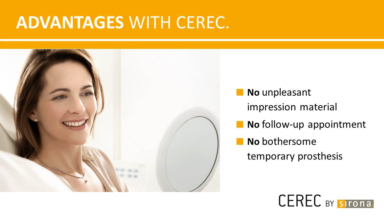 Advantages with CEREC